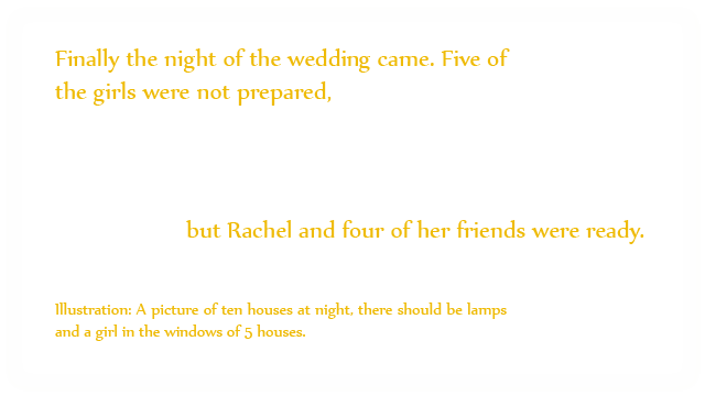 Rachel and the Wedding Feast, mythoughts, thoughtsofgod, thoughts of God, dbr, david Reese, David B. Reese