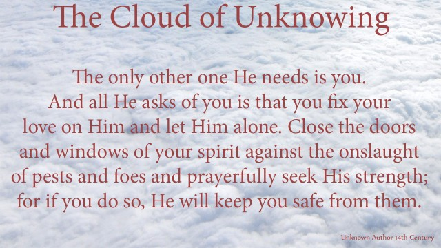 The only other one He needs is you. And all He asks of you is that you fix your love on Him and let Him alone. Close the doors and windows of your spirit against the onslaught of pests and foes and prayerfully seek His strength; for if you do so, He will keep you safe from them. mythoughts, thoughtsofgod, thoughts of God, David Reese