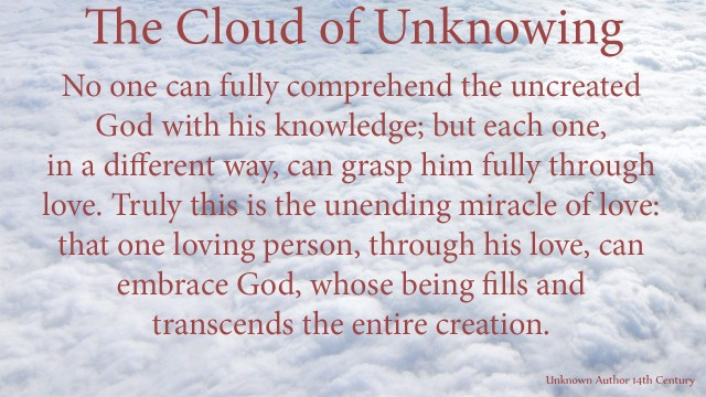 No one can fully comprehend the uncreated God with his knowledge; but each one, in a different way, can grasp him fully through love. Truly this is the unending miracle of love: that one loving person, through his love, can embrace God, whose being fills and transcends the entire creation. mythoughts, thoughtsofgod, thoughts of God, David Reese