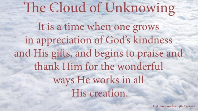It is a time when one grows in appreciation of God's kindness and his gifts, and begins to praise and thank him for the wonderful ways he works in all his creation. mythoughts, thoughtsofgod, thoughts of God, David Reese