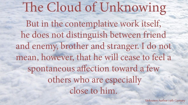 But in the contemplative work itself, he does not distinguish between friend and enemy, brother and stranger. I do not mean, however, that he will cease to feel a spontaneous affection toward a few others who are especially close tohim. mythoughts, thoughtsofgod, thoughts of God, David Reese