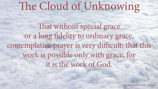 That without special grace or a long fidelity to ordinary grace, contemplative prayer is very difficult; that this work is possible only with grace, for it is the work ofGod. mythoughts, thoughtsofgod, thoughts of God, David Reese