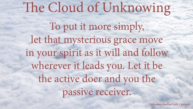 To put it more simply, let that mysterious grace move in your spirit as it will and follow wherever it leads you. Let it be the active doer and you the passivereceiver. mythoughts, thoughtsofgod, thoughts of God, David Reese