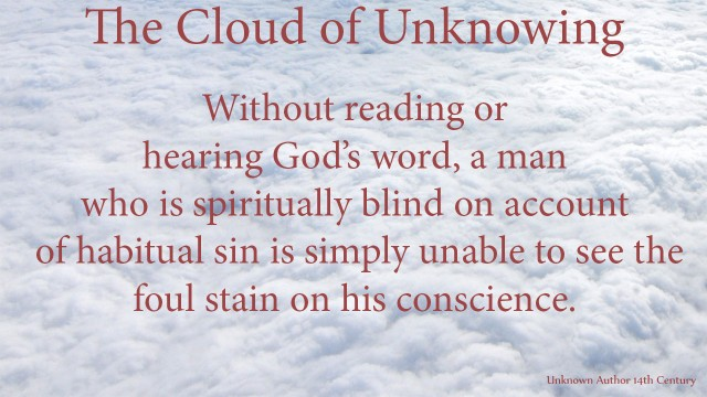 Without reading or hearing God's word, a man who is spiritually blind on account of habitual sin is simply unable to see the foul stain on hisconscience. mythoughts, thoughtsofgod, thoguhts of God. David Reese