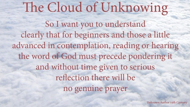 So I want you to understand clearly that for beginners and those a little advanced in contemplation, reading or hearing the word of God must precede pondering it and without time given to serious reflection there will be no genuine prayer. mythoughts, thoughtsofgod, thoughts of God, David Reese