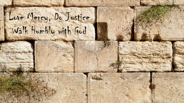 Love Mercy Do Justice Walk Humbly with Your God, Thoughts of God, David Reese