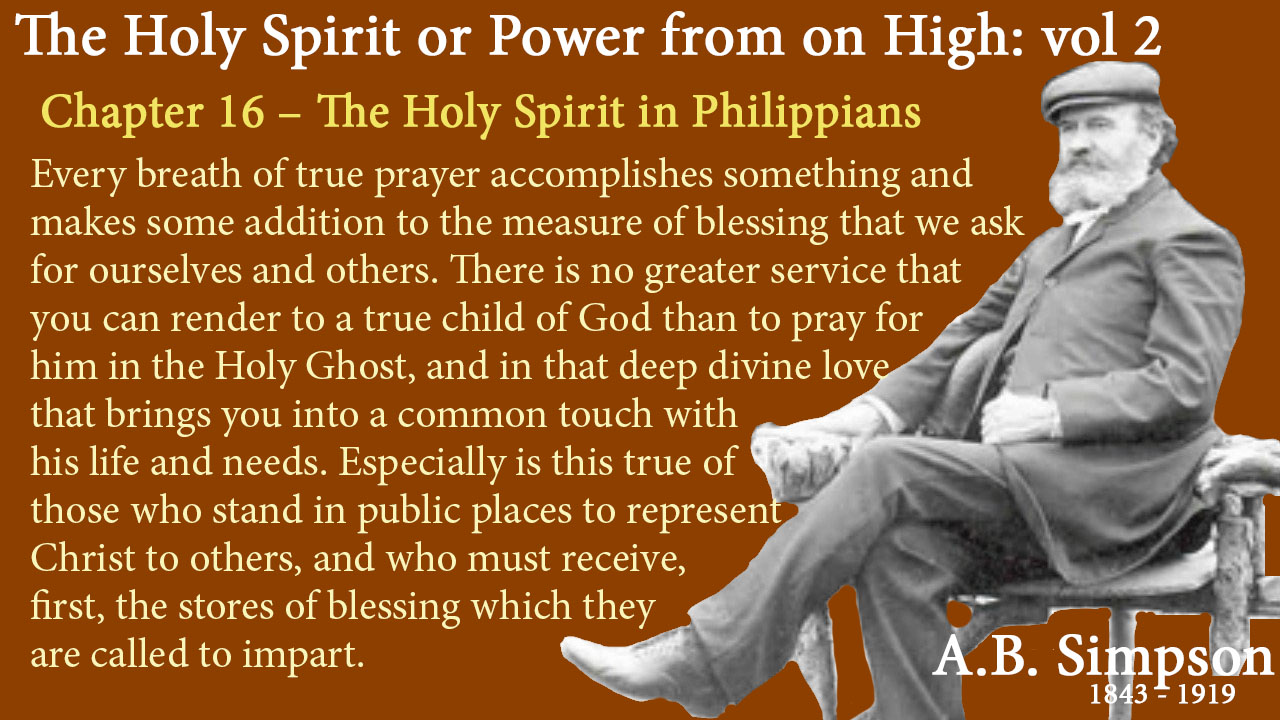 Chapter 16 – The Holy Spirit in Philippians