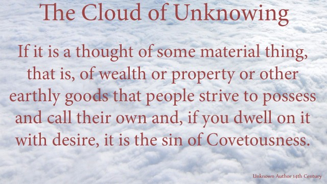 If it is a thought of some material thing, that is, of wealth or property or other earthly goods that people strive to possess and call their own and, if you dwell on it with desire, it is the sin of Covetousness. mythoughts, thoughtsofgod, thoughts of God, David Reese