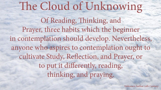 Of Reading, Thinking, and Prayer, three habits which the beginner in contemplation should develop. Nevertheless, anyone who aspires to contemplation ought to cultivate Study, Reflection, and Prayer, or to put it differently, reading, thinking, and praying. mythoughts, thoughtsofgod, thoughts of God, David Reese