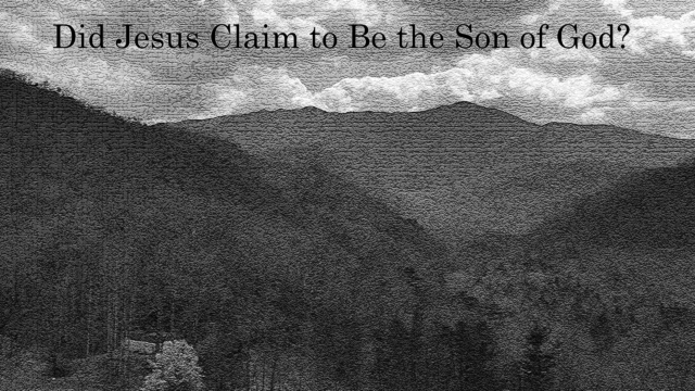 Did Jesus Claim to Be the Son of God, David Reese, Thoughts of God