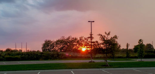 Sunset – Columbus State Dublin Parking Lot – Oct 8 2018