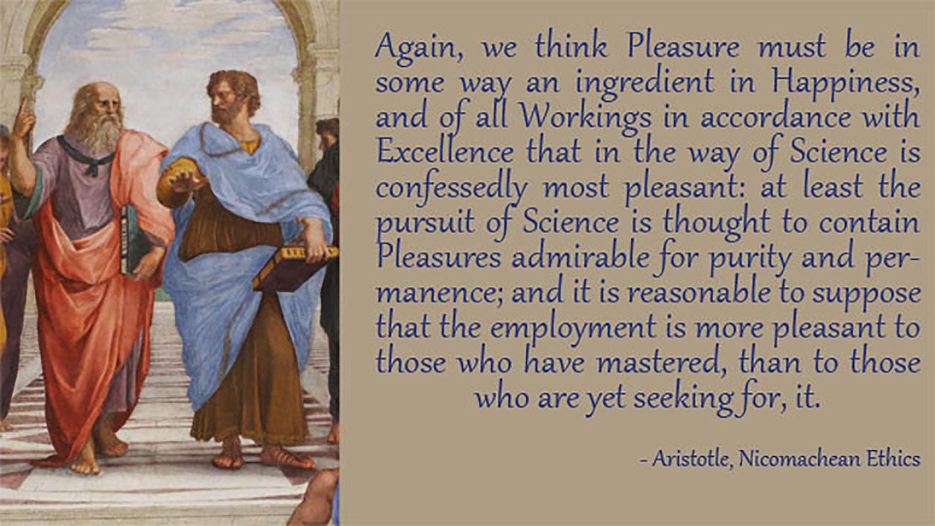 Nicomachean ethics pleasure
